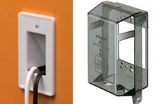 faceplate cover, cable entrance plates