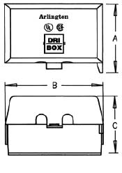 Dri Box Adapter Horizontal dimension