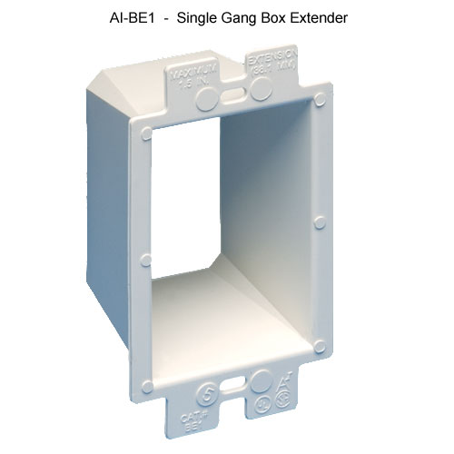Arlington Industries single gang electrical box extender