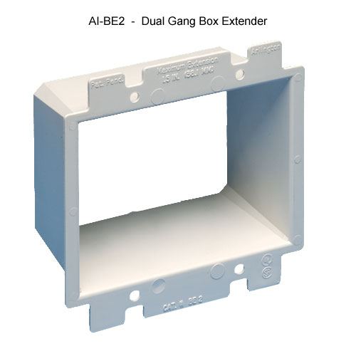 Arlington Industries dual gang electrical box extension