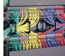 color coded and organized patch cables