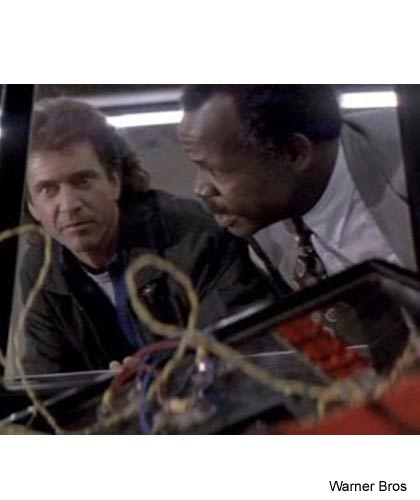 scene from Lethal Weapon with a mess of wires