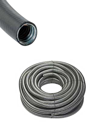Jacketed and non-jacketed flexible metallic conduit