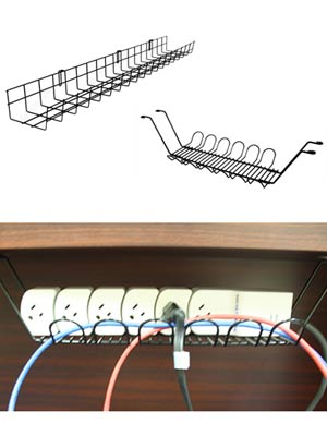 Examples of Under Desk Basket Cable Trays