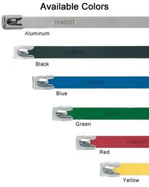 Examples of Aluminum Cable Tie Color Options