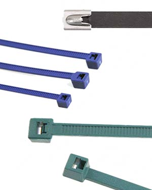 Examples of Coated and Detectable Ties