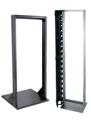 Examples of two-post open frame racks