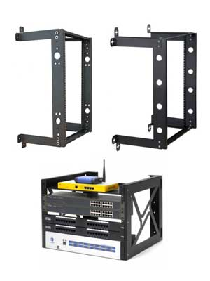 Examples of Fixed and Standard Open Frame Wall Mount Racks