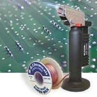 solder, torch and circuit board