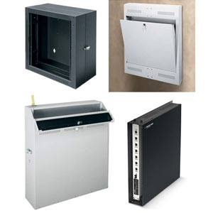 Examples of Low Profile Wall Mount Component Cabinets