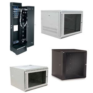 Examples of Standard Wall Mount Component Cabinets