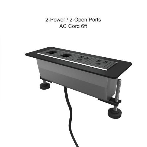 AXIL Z 2-Power/2-Open Ports, AC Cord 6ft Gloss Silver/Black