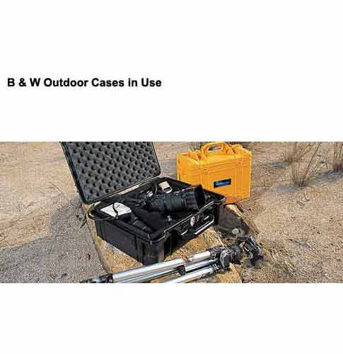 B&W International Specialty Outdoor Protective case in use icon