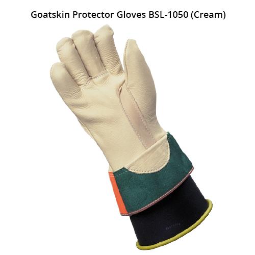 bashlin ppe lineworker kunz gloves in cream cowhide icon