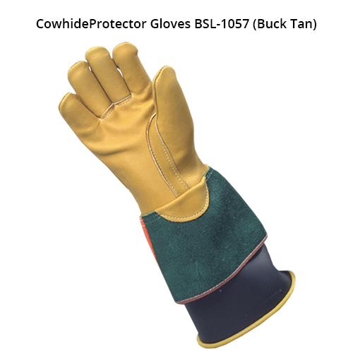 bashlin ppe lineworker kunz gloves in buck tan cowhide icon