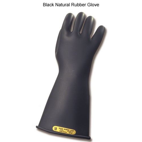 bashlin ppe personal protection equipment lineworker rubber gloves in black icon