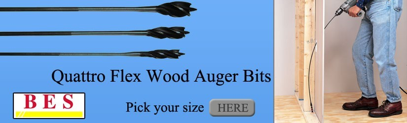 flexible wood auger bits from BES