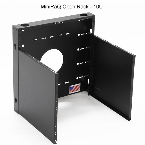 BlackHawk Labs MiniRaQ 10U Open Vertical Wallmount Rack - icon