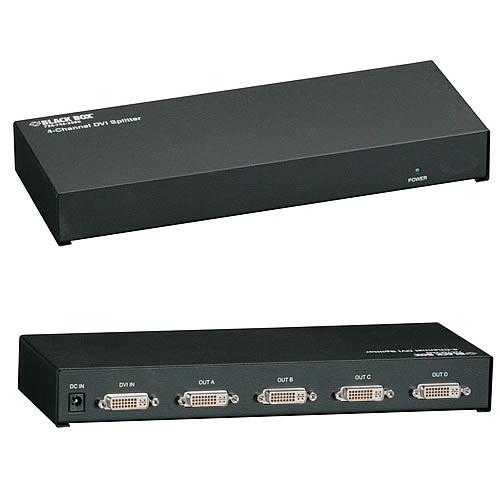 Black Box DVI splitter front and rear view - Icon