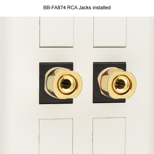 Black Box RCA Jacks for Audio and Video installed - Icon