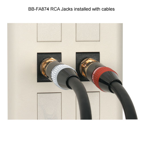 Black Box RCA Jacks for Audio and Video in use - Icon