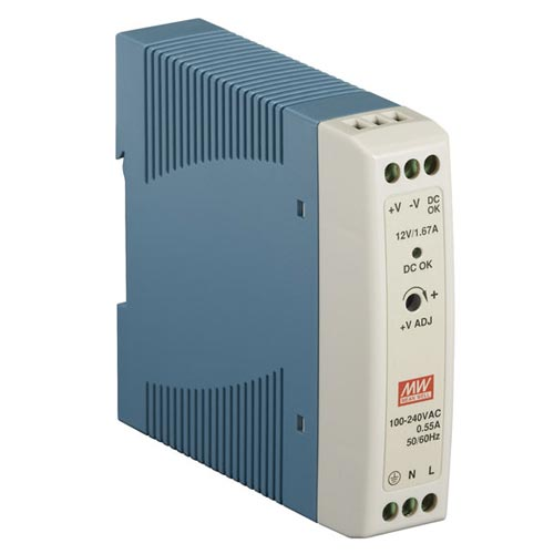 DIN Rail 12-VDC Power Supply