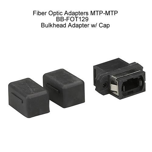 Black Box Fiber Optic Adapters MTP-MTP, Bulkhead Adapter with Cap - Icon