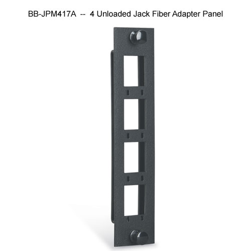 Black Box high density 4 unloaded jack fiber adapter panel - Icon