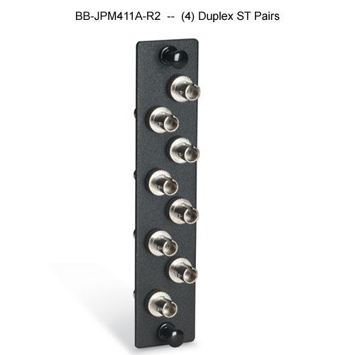 Black Box high density fiber adapter panel with 4 duplex ST pairs - Icon