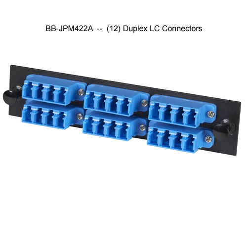 Black Box high density fiber adapter panel with 12 duplex LC connectors - Icon