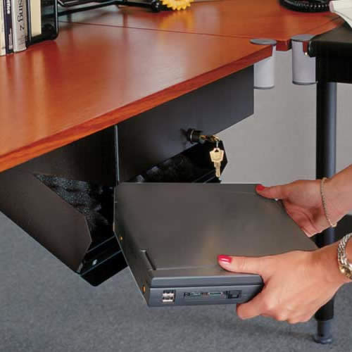 Black Box laptop cabinet in use - Icon
