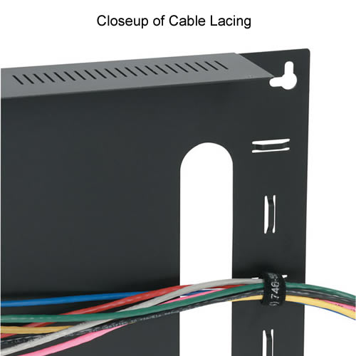 Black Box Low Profile Side Wall mount cabinet with cable lacing - Icon