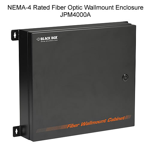 Black Box NEMA-4 Rated Fiber Optic Wall Mount Enclosures