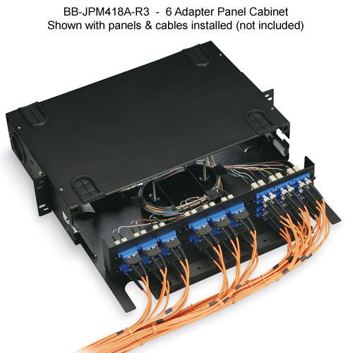 Black Box Rackmount 9 adapter fiber cabinet, front view - Icon