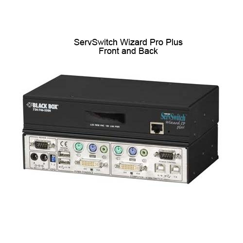 Black Box ServSwitch Pro Plus front and back view - icon