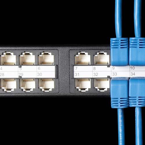 closeup of Black Box SpaceGAIN HD Feed Through Patch Panel - icon