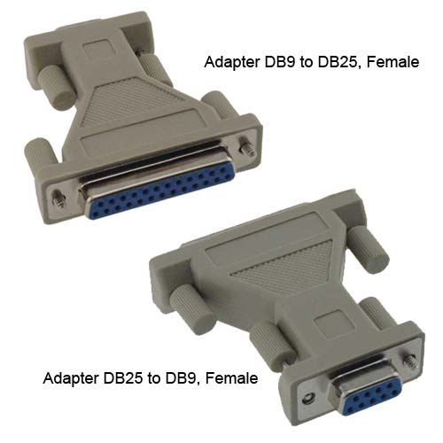 Black Box VoiceData Tool kit DB9 to DB25 female and DB25 to DB9 female adapters - Icon