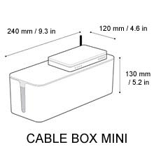 dimensional drawing for Mini CableBox