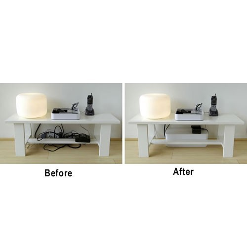BlueLounge Designs CableBox before and after - Icon