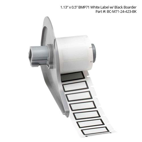 Brady BMP71 BradyBondz Thermal Transfer Labels, white label with black border - Icon