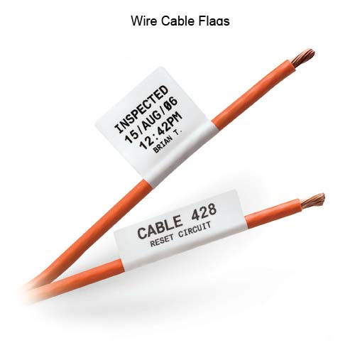 Brady BMP71 Wire Cable Flags on cable - Icon