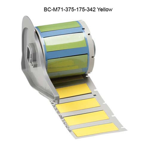 Brady BMP71 PermaSleeve Heat Shrinkable Labels in Yellow - Icon