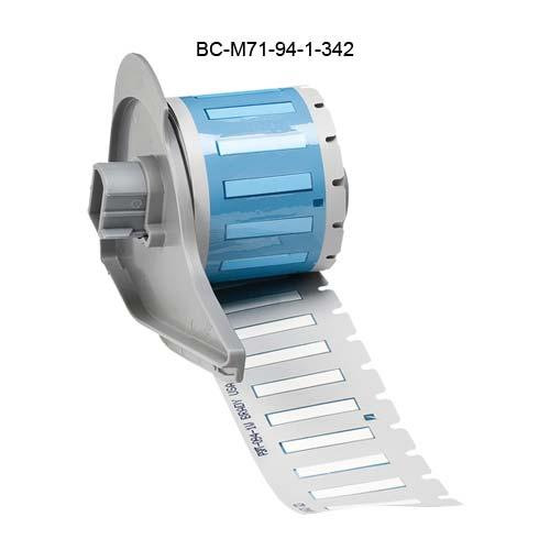 Brady BMP71 PermaSleeve Heat Shrinkable Labels in white - Icon