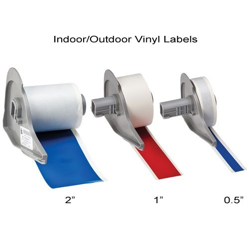 Brady BMP 71 Indoor and Outdoor vinyl labels in 2 inch, 1 inch and 12 inch width - Icon