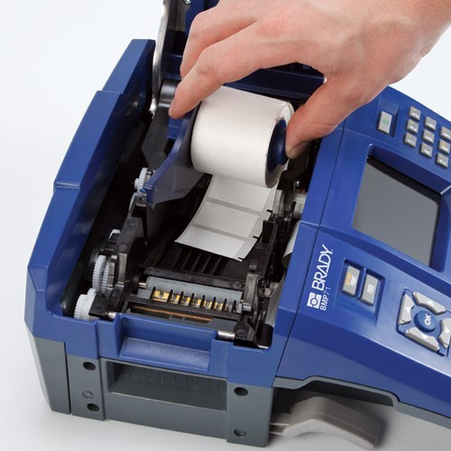 Loading Brady BMP 71 Thermal Transfer Label printer with labels - Icon