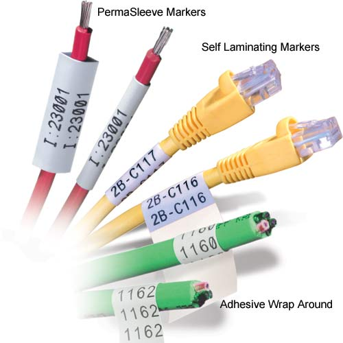 brady IDxpert permasleeve, self-laminating, and adhesive wrap around markers - icon