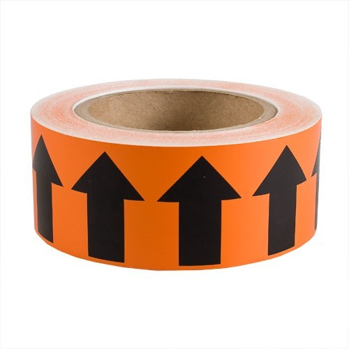 Orange and black Brady directional pipe marker banding tape - Icon