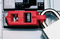 A circuit breaker with a lockout