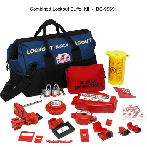 Brady 99691 Combination Lockout Duffel Kit components - Icon
