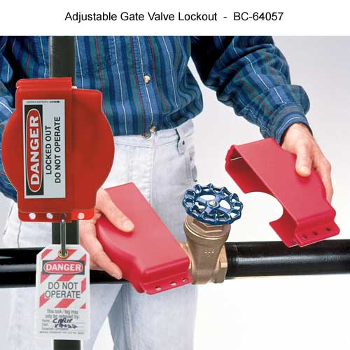 brady adjustable gate valve lockout - Icon
